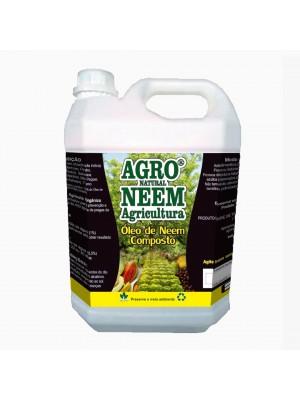 Óleo de Neem Nim Agroneem Naturalneem Agrícola Composto Galão de 5 L