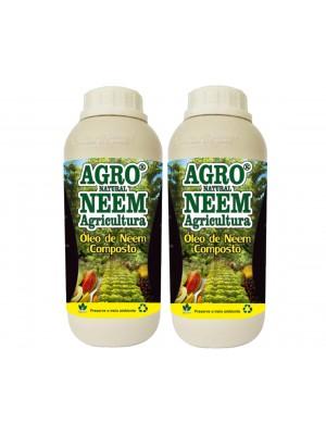 Óleo de Neem Nim Agroneem Naturalneem Agrícola Composto 2 Litros