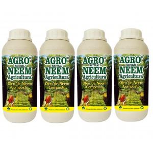 Óleo de Neem Nim Agroneem Naturalneem Agrícola Composto 4 Litros