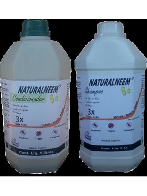 Kit Shampoo Naturalneem Com Óleo de Neem Nim + Condicionador Naturalneem de 5 Litros