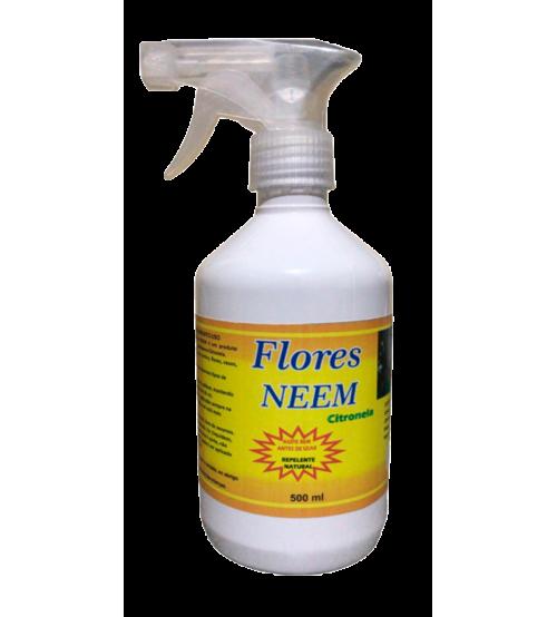Flores Neem Repelente Spray Com Óleo De Neem e Citronela 500 ml
