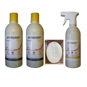 Kit Naturalneem com 2 Shampoos Colônia 500 ml e Sabonete Neem Nim