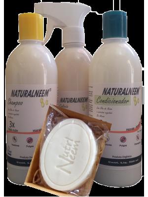 Kit Naturalneem com Shampoo Condicionador Colônia 500 ml e Sabonete Neem Nim