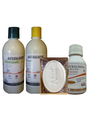 Kit Naturalneem com Shampoos Condicionador Óleo de Neem Nim 100 ml e Sabonete Neem Nim