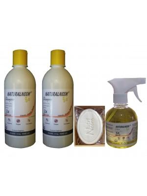 Kit Naturalneem com 2 Shampoos Colônia 250 ml e Sabonete Neem Nim