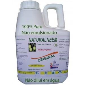 Óleo de Neem Nim Naturalneem NÃO EMULSIFICADO 100% PURO 5 Litros